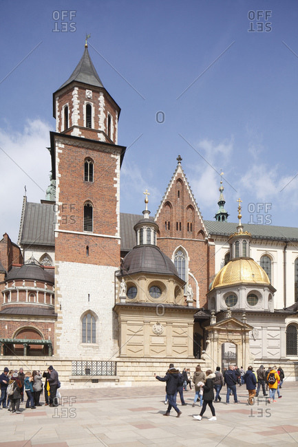 April 21, 2017: Wawel cathedral, cracow, lesser poland, poland, europe