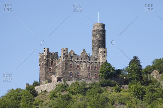 Castle maus near st. goarshausen, unesco world heritage upper middle rhine valley, rhineland-palatinate, Germany, europe