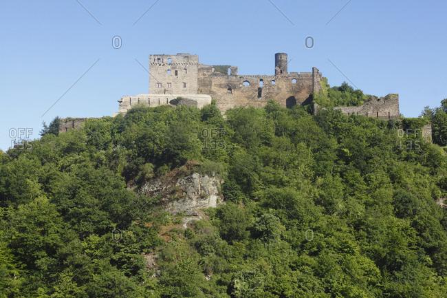 Castle rheinfels near st. goar, unesco world heritage upper middle rhine valley, rhineland-palatinate, Germany, europe