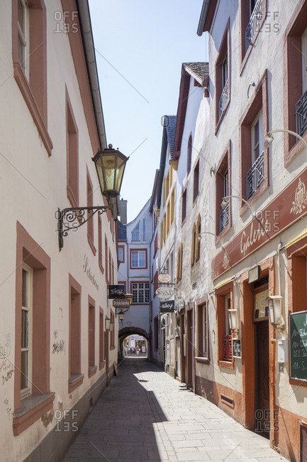 July 1, 2015: Jewish lane, trier, rhineland-palatinate, Germany, europe
