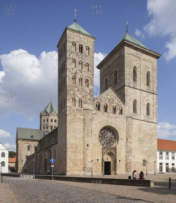 July 31, 2014: Cathedral st. peter, Osnabruck, lower saxony, Germany, europe