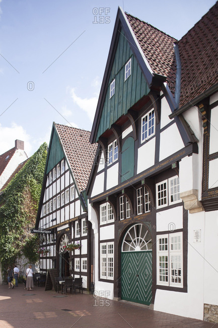 July 31, 2014: Half-timbered houses in the old town, Osnabruck, lower saxony, Germany, europe