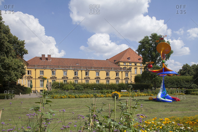 July 31, 2014: Prince-archbishop castle, site of the university, Osnabruck, lower saxony, Germany, europe
