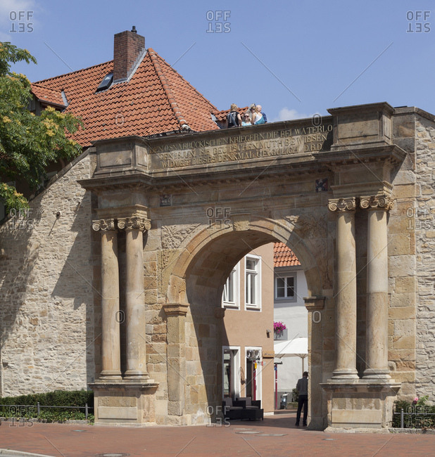 July 31, 2014: Heger gate in the old town, memorial, Osnabruck, lower saxony, Germany, europe