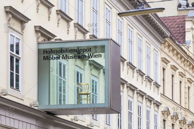 February 17, 2017: Austria, vienna, imperial furniture collection (museum), piece of furniture museum of vienna, furniture museum, museum for home decor