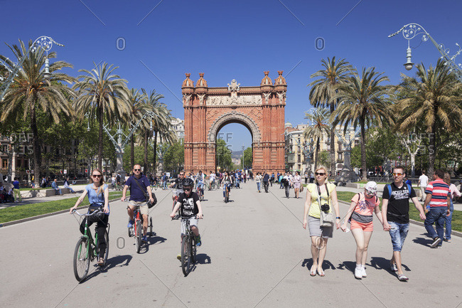 April 10, 2017: Arc de triomf, barcelona, catalonia, spain