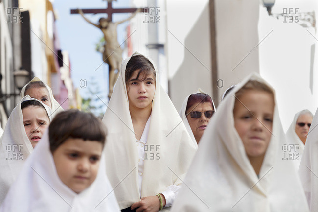 March 29, 2013: Easter procession in the old town vegueta, unesco world cultural heritage, las palmas, gran canaria, canary islands, spain
