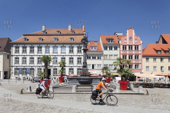 July 16, 2013: Market square, lindau, lake constance, bavaria, Germany