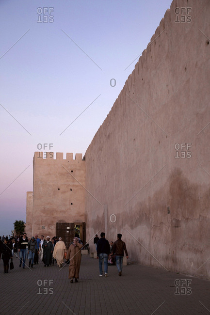December 3, 2015: Meknes, city wall, architecture, morocco