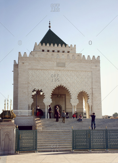 December 4, 2015: Rabat, mausoleum, architecture, morocco on a beautiful day