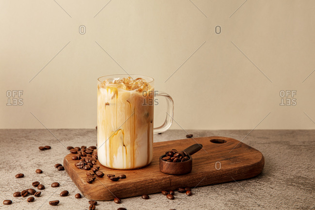 Iced Caramel Cafe Latte