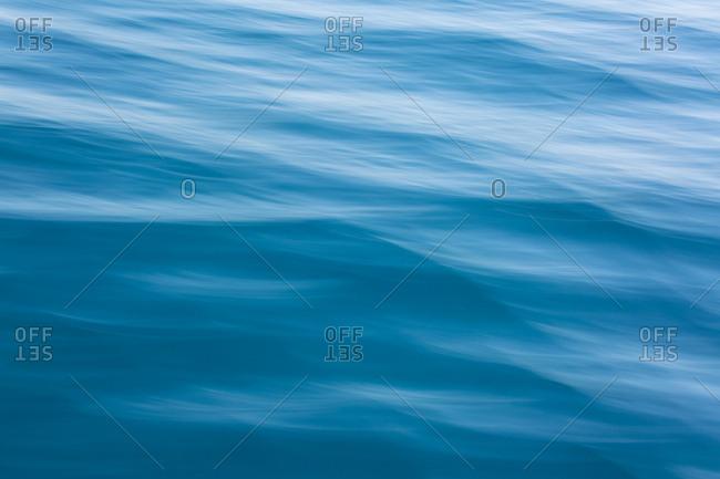 Long exposure of blue waves