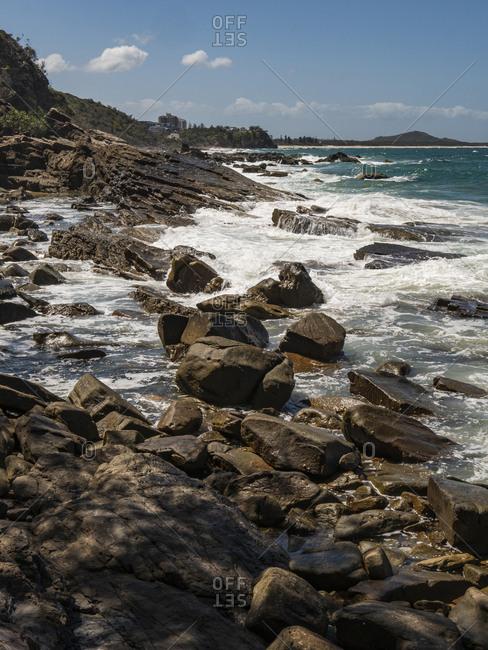 Beautiful rocks at Point Arkwright, Sunshine Coast, Australia