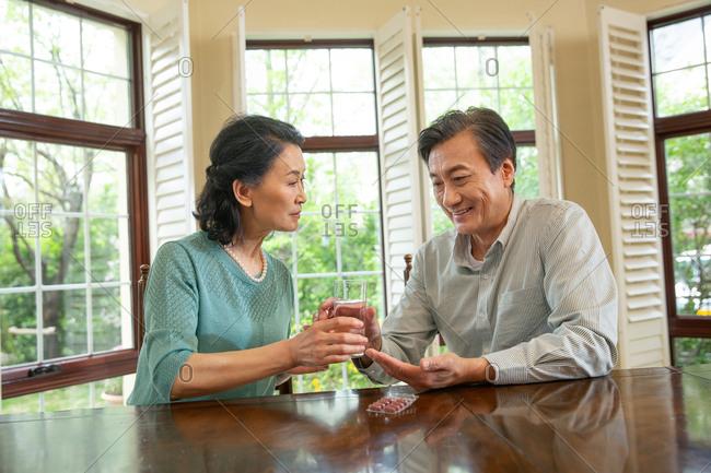 Elderly couple to take medicine