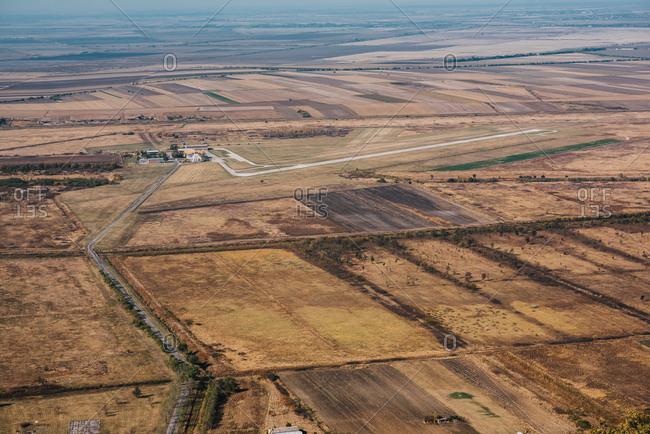Bird's eye view of beautiful landscape, South Banat District, Vojvodina, Serbia