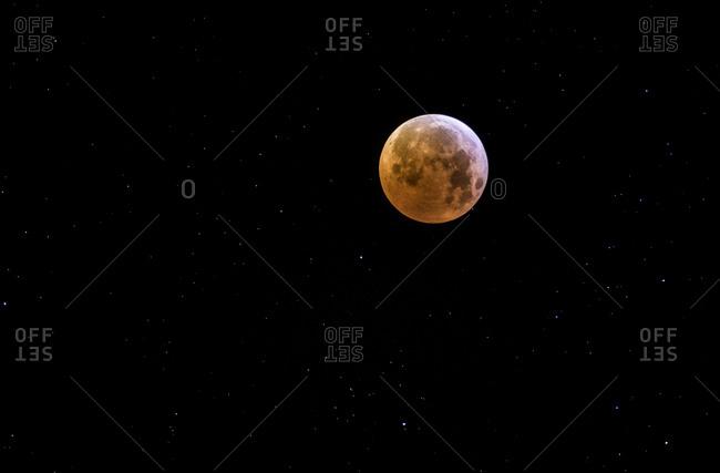 Supermoon  eclipse. Total lunar eclipse. 21-1-2019