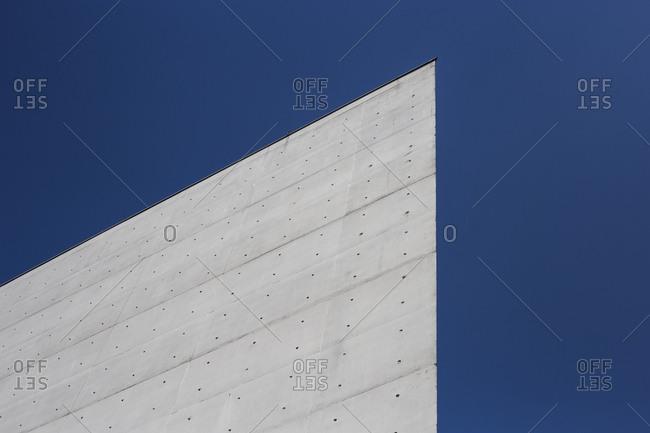 June 14, 2019: Detail of the Paul Lobe Haus in Berlin, Germany