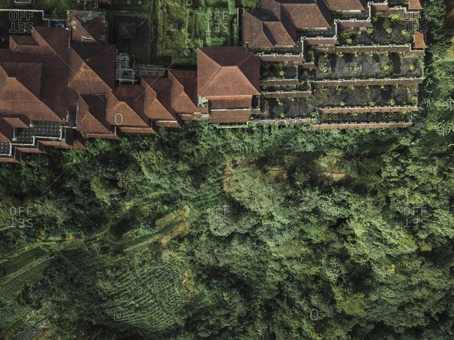 Aerial view of the lost hotel