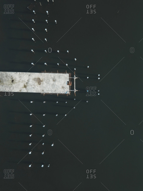 Aerial view of jetty - Offset