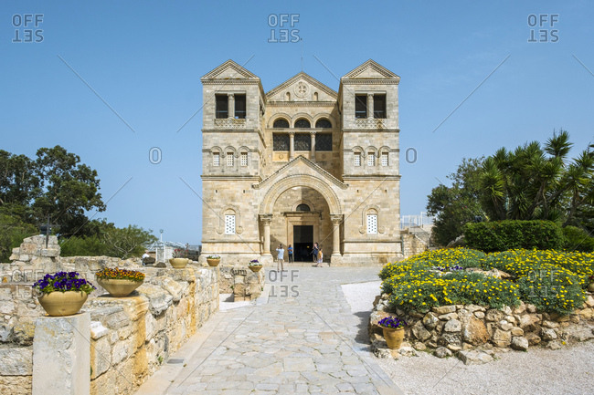 Church of the transfiguration on mount tabor, lower galilee, israel