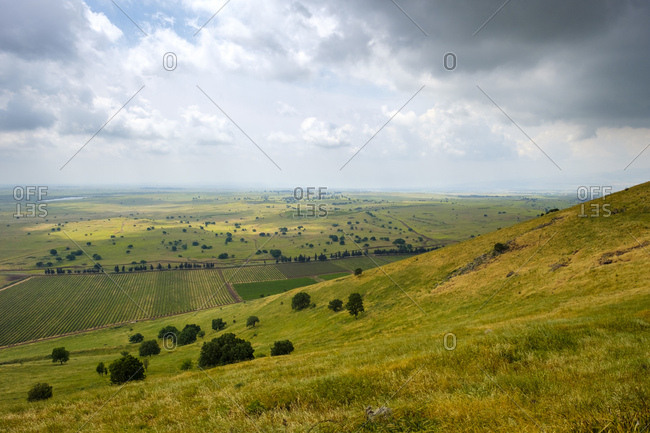 View from mount shifon (har shifon), central golan heights