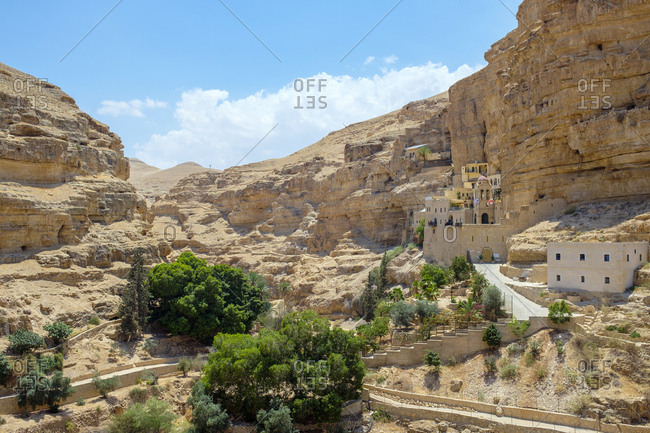 St. george monastery in wadi quelt, jericho, west bank, palestine