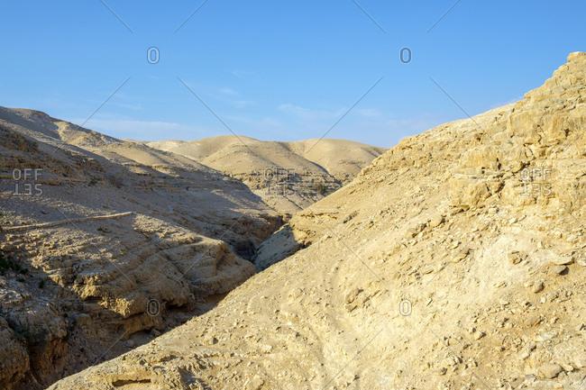 Wadi quelt, prat river gorge, jericho, west bank, palestine