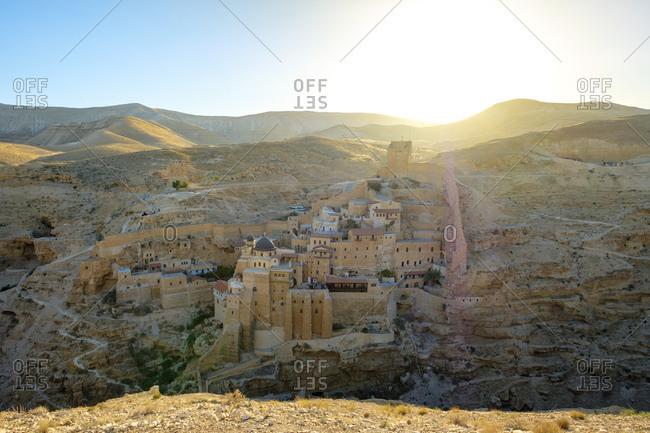 Mar saba monastery in the kidron valley, judean desert, palestine