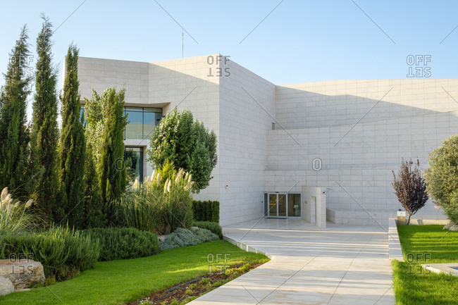 September 2, 2018: Yasser arafat museum, ramallah, west bank, palestine