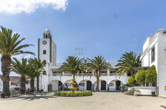 September 19, 2018: Spain- Balearic Islands- Lanzarote- San Bartalome- Townhall and city theater