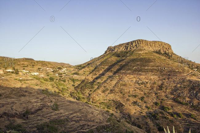 Spain- Canary Islands- La Gomera- Table Mountain at dusk