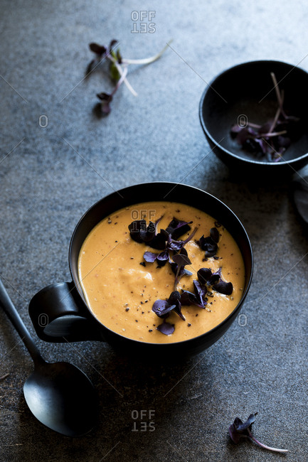 Warm Roasted Vegetable Soup