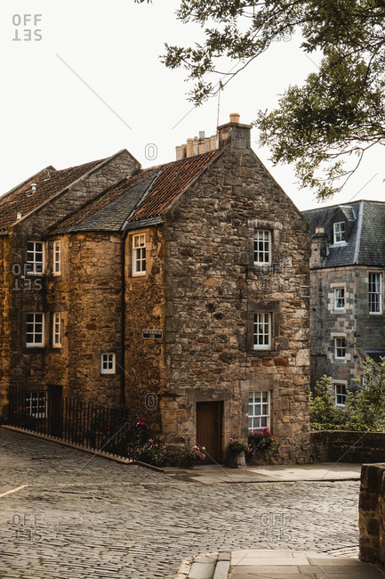 August 20, 2019: Medieval building in Scotland