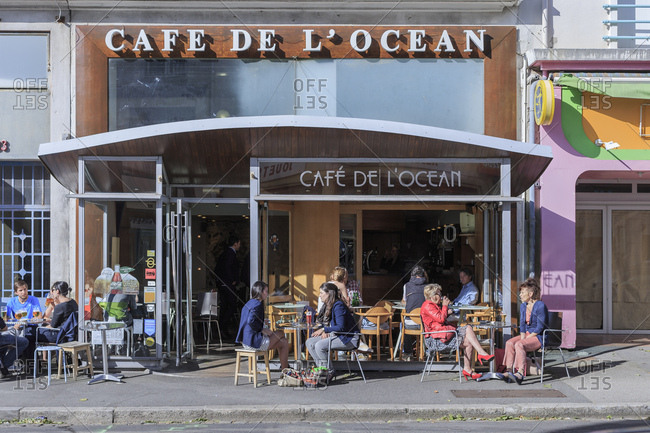 May 31, 2016: Europe, France, Brittany, Brest, 'Caf� de L'ocean'