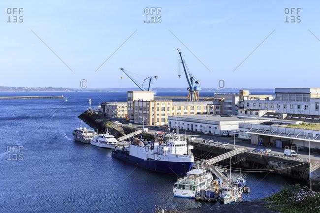 Europe, France, Brittany, Brest, harbor