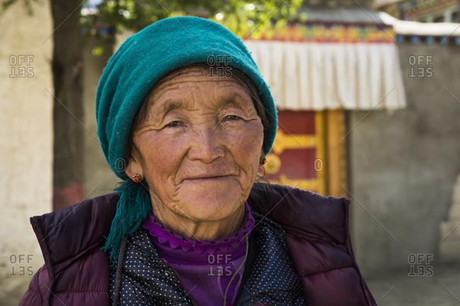 September 28, 2016: Portrait of an elderly Tibetan woman