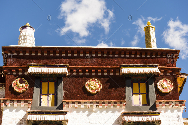Details of the Sera monastery in Tibet