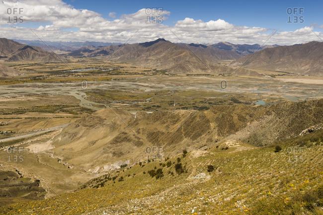 Tibet, Kyi basin in the Ganden Monastery