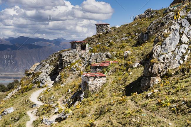 Tibet, Kora around the Ganden Monastery