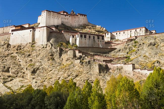 Gyantse, Dzong fortress in Tibet