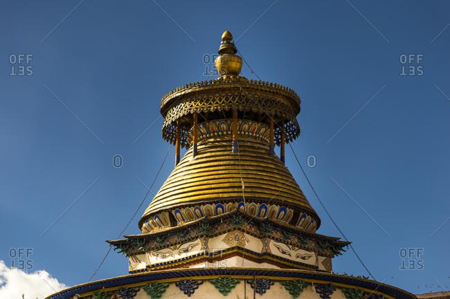 Tibet, Gyantse, Pelkor Chode Monastery with the Kumbum Choerten