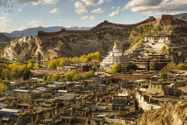 Tibet, the Old Town of Gyantse