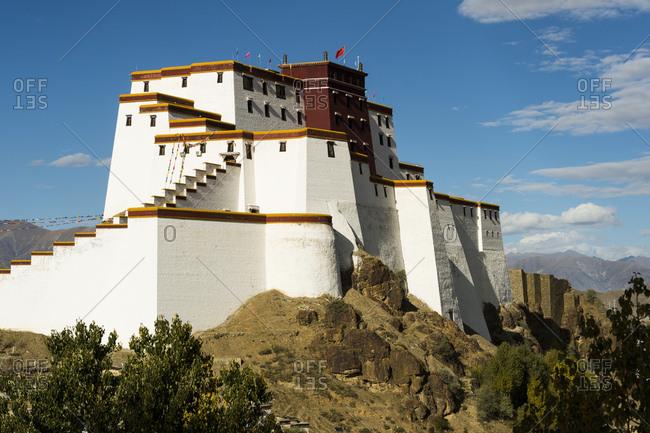 Shigatse Dzong fortress in Tibet