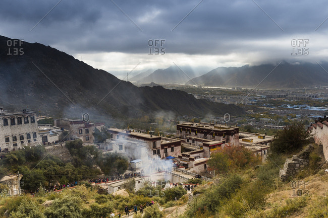 The Drepung Monastery in Tibet