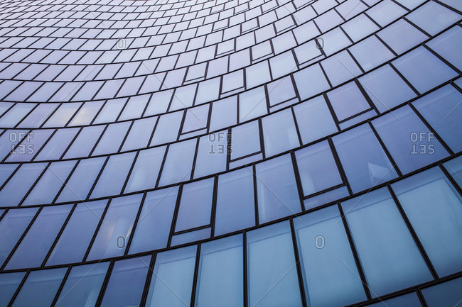 Abstract view of modern office building