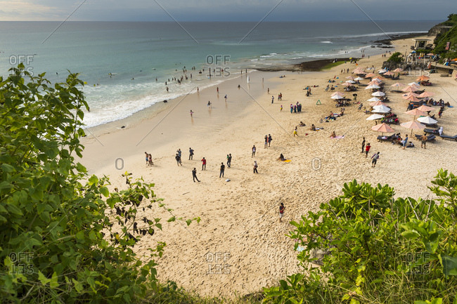 Bali, Indonesia - April 6, 2016: The peninsula Bukit Badung with the Dreamland Beach
