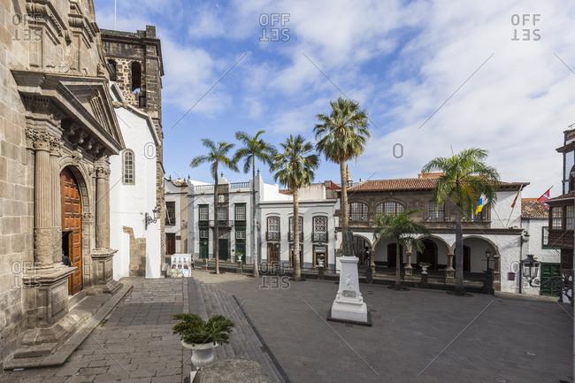 House front in the Avenida Maritima, balcony houses, Santa Cruz de La Palma, La Palma, Canary islands, Spain