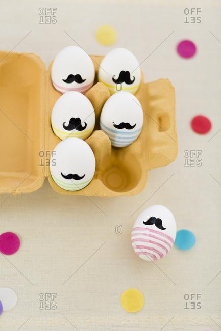 Painting Easter eggs, hand, brush, egg color