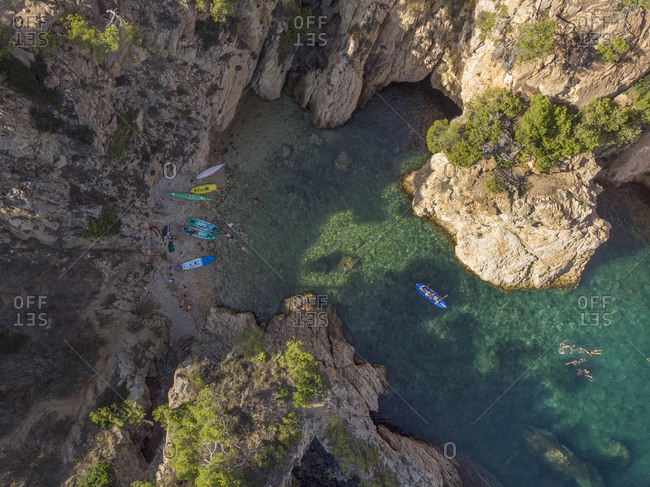 Birds eye view of a tropical cove somewhere in the Mediterranean