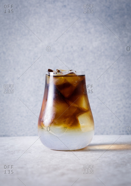 Brown and white cocktail